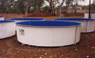 Flat Base Circular Tanks FRP for Aquaculture